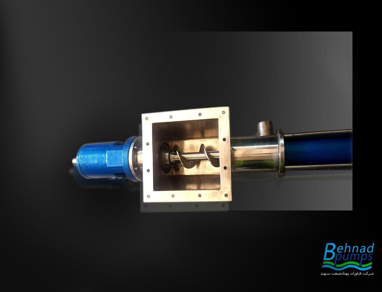 مونو پمپ بهناد جهت انتقال خامه, مونو پمپ,فناوران بهناد صنعت سهند,behnad pumps,روتور,استاتور,بهناد پمپ